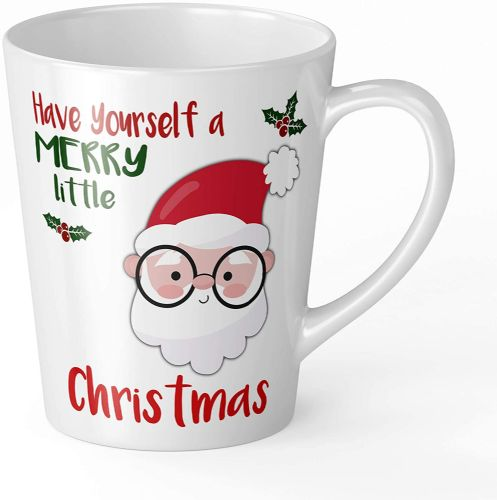 Merry Little Christmas Santa Novelty Gift Latte Mug